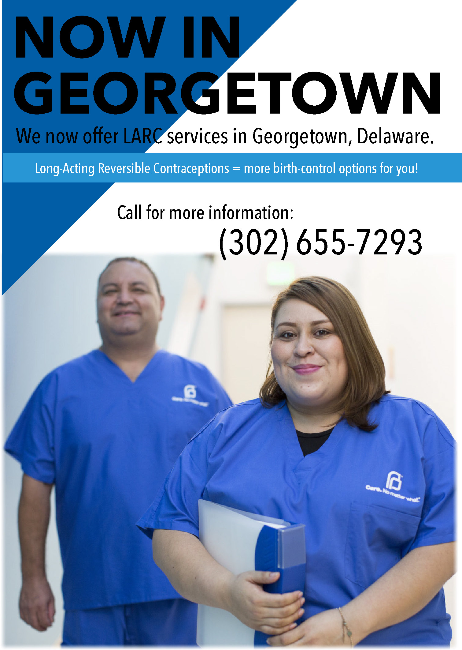 We now offer LARC services in Georgetown, Delaware. Call for more information: (302) 655-7293