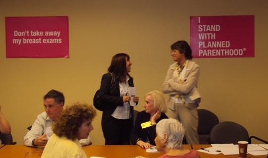 Lillian Tamayo and Representative Lori Berman