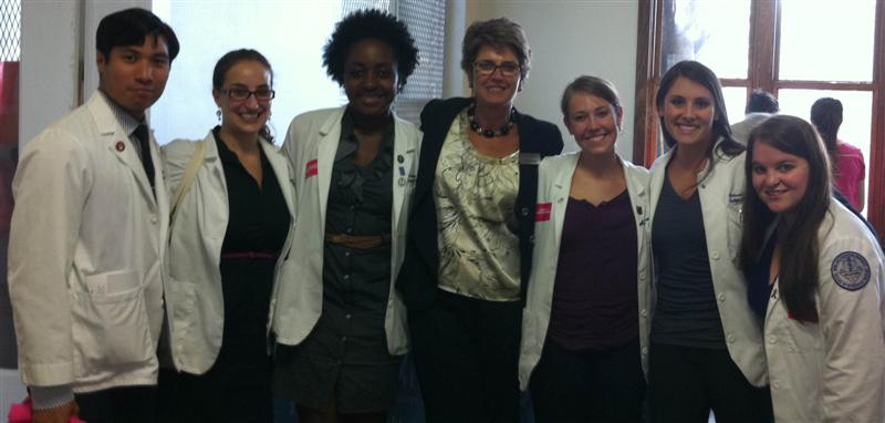 PPSoFlo CEO Lillian Tamayo and Nova Med Students for Choice