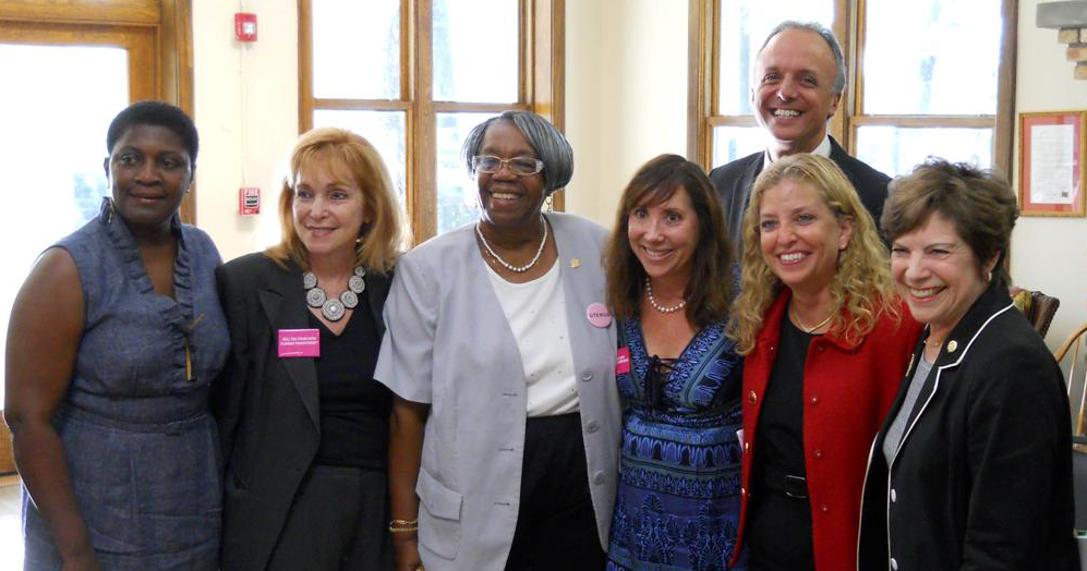From left to right: Representative Hazelle Rogers, Senator Eleanor Sobel, Representative Gwyndolen Clarke-Reed, Represenative Lori Berman, Congressman Ted Deutch, Congresswoman Debbie Wasserman Schultz, and Senator Nan Rich.