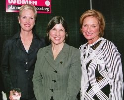 Cecile Richards, Anna Quindlan and Barbara Zdravecky, CEO PPSWCF, Inc.
